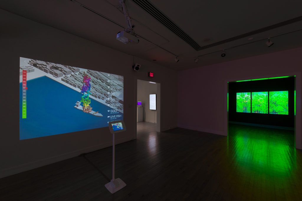 Joelle Dietrick and Owen Mundy. The Speed of Thinking. 2019. Exhibition installation at Van Every Galleries, Davidson College, NC. https://joelledietrick.com/site/the-speed-of-thinking